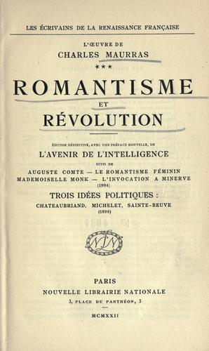 Download Romantisme et révolution.