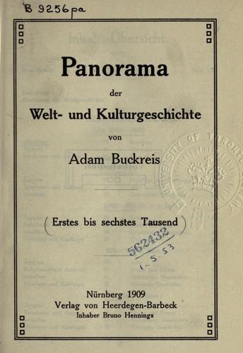 Panorama der Welt- und Kulturgeschichte.