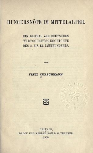Download Hungersnöte im Mittelalter