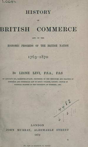 Download History of British commerce