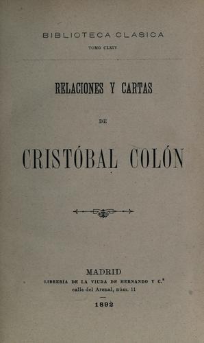 Download Relaciones y cartas de Cristóbal Colón.
