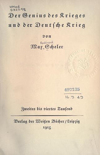 Der Genius des Krieges und der Deutsche Krieg