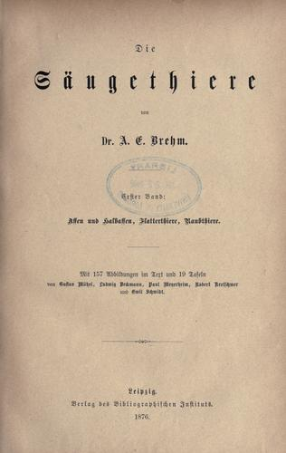 Download Brehms Thierleben