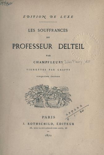Les souffrances du professeur Delteil