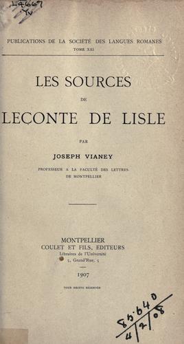 Download Les sources de Leconte de Lisle.