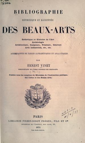 Download Bibliographie méthodique et raisonnée des beaux-arts.