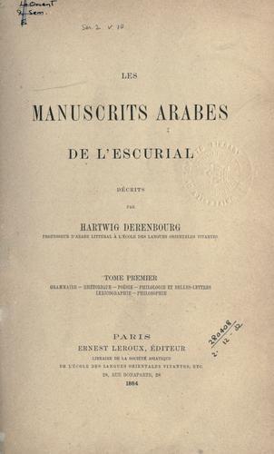 Les manuscrits arabes de l'Escurial.