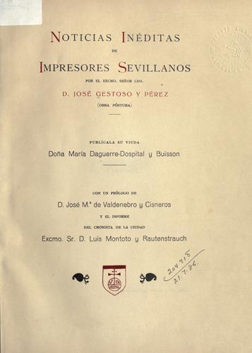 Noticias inéditas de impresores Sevillanos
