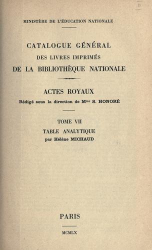 Download Catalogue général des livres imprimés de la Bibliothèque nationale.