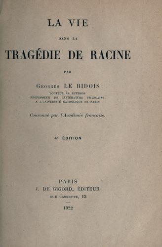 Download La vie dans la tragédie de Racine.