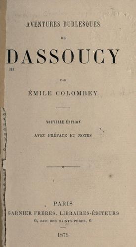 Aventures burlesques de Dassoucy