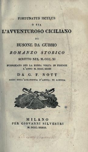 Fortunatus Siculus, o sia, L'avventuroso ciciliano