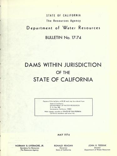 Dams within jurisdiction of the State of California.