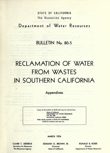 Download Reclamation of water from wastes in southern California