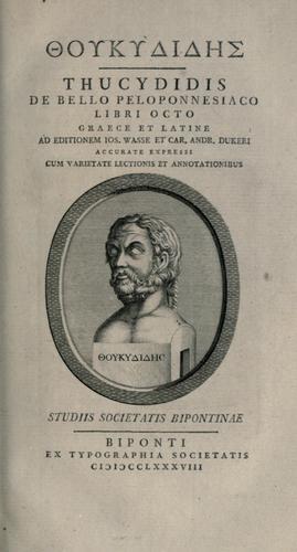 Download De bello peloponnesiaco libri octo.