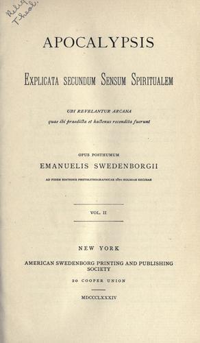Apocalypsis explicata secundum sensum spiritualem