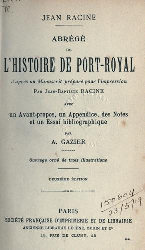Download Abrégé de l'histoire de Port-Royal