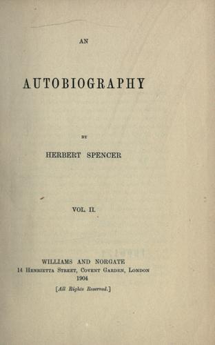 An autobiography.
