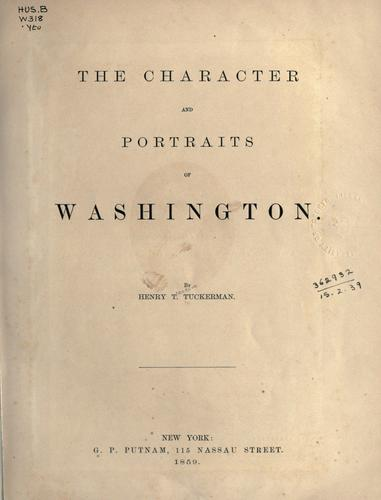 Download The character and portraits of Washington.