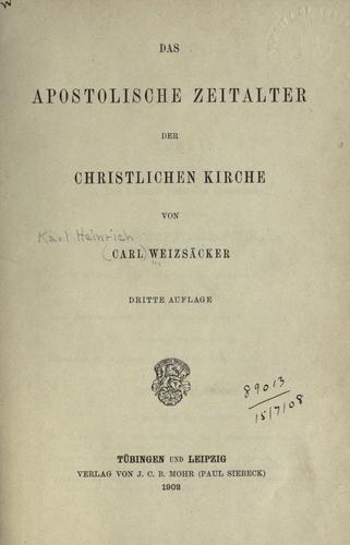 Download Das apostolische Zeitalter der christlichen Kirche.