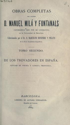 De los Trovadores en Espaa