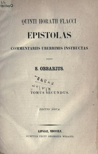 Epistolas commentariis uberrimis instructas