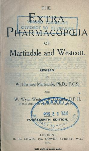 The extra pharmacopoeia of Martindale and Westcott.