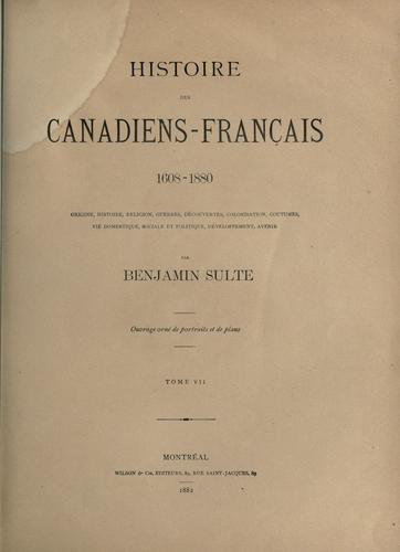 Download Histoire des Canadiens-Français 1608-1880
