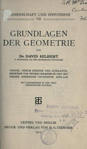 Download Grundlagen der Geometrie