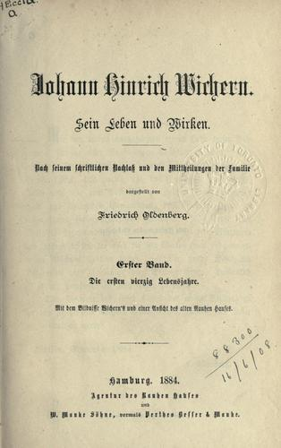 Download Johann Hinrich Wichern