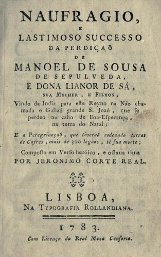 Download Naufragio, e lastimoso successo da perdição de Manoel de Sousa de Sepulveda