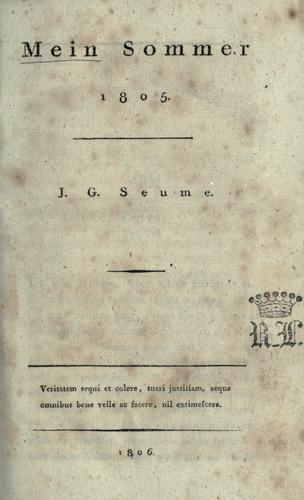 Download Mein Sommer, 1805