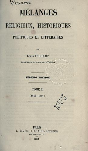 Mélanges religieux, historiques, politiques et littéraires.