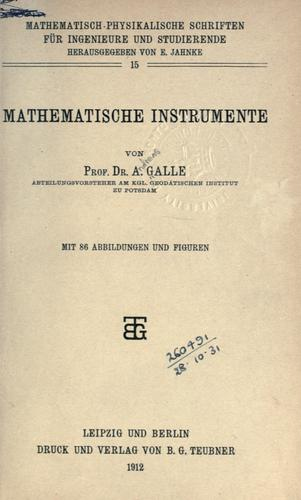 Download Mathematische Instrumente.