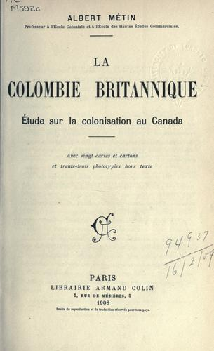 Download La Colombie Britannique