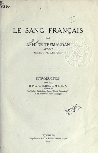 Le sang français
