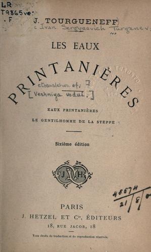 Download Les eaux printanières