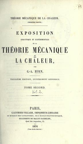 Download Théorie mécanique de la chaleur.