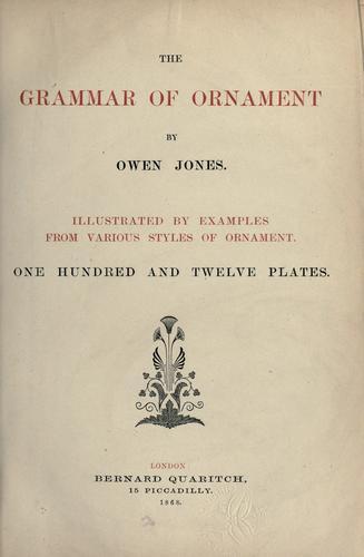 Download The grammar of ornament