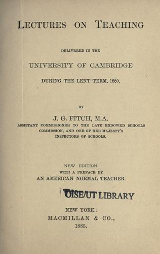 Lectures on teaching