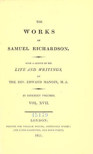 The works of Samuel Richardson.