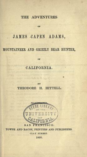 Download The  adventures of James Capen Adams