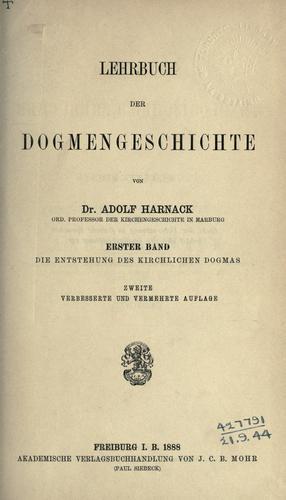 Lehrbuch der Dogmengeschichte.