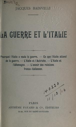 Download La guerre et l'Italie.