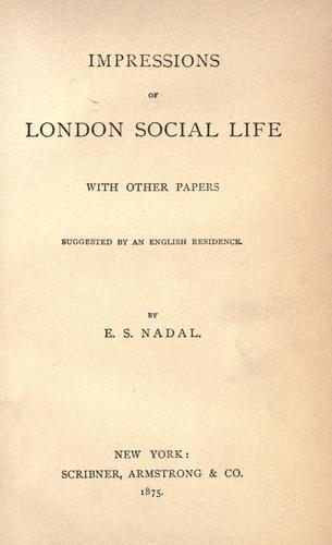 Impressions of London social life