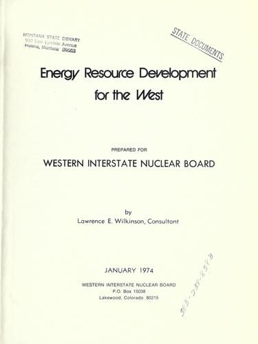 Download Energy resource development for the West
