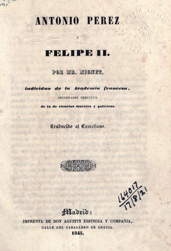 Antonio Perez y Felipe II