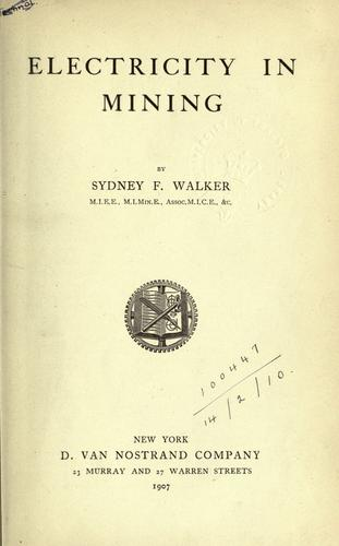 Electricity in mining.