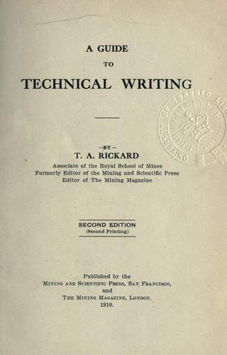 A guide to technical writing.