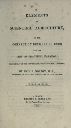Download Elements of scientific agriculture